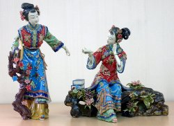 Ceramic / Porcelain Lady Figurine Dolls Great Chinese Beauty Sister