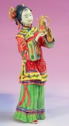 Delicate Chinese Oriental Lady Ceramic Porcelain Figurine Wine Serving