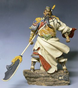 Guan Gong Warrior Hero Porcelain Ceramic Doll Master Chinese Figurine Statue