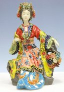 Ming Concubine - Shiwan Chinese Ceramic Lady Figurine