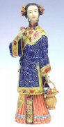 Shiwan Chinese Ceramic Doll Lady Figurine Celebration