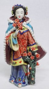 Ancient Chinese Lady - Chinese Ceramic Figurine Concubine Woman