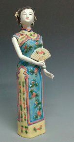 Chinese Porcelain Ceramic figurine Statue - Oriental Woman