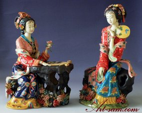 Porcelain / Ceramic Dolls Figurines Imperial Chinese Concubine Masterpiece