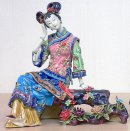 Chinese Ceramic Porcelain Figurine Ancient Great Beauty Woman -