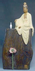 "Kwan yin Chinese Porcelain Statue Masterpiece HUGE 22"" Limited Edition"