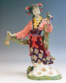Qing Great Beauty - Shiwan Chinese Ceramic Lady Figurine