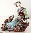The Joyful Lady - Chinese Porcelain / Ceramic Lady Figurine