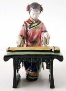 Chinese Oriental Lady Porcelain Figurine Musician