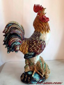 Chinese zodiac Year of the Rooster Ceramic Porcelain Figurine Statue