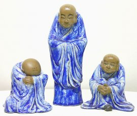 Porcelain Dolls Unique collection Buddha Monks perfection of wisdom 3/Set