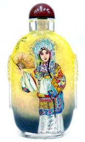 Snuff Bottle Master Painted - Chinese Famous Opera Artist