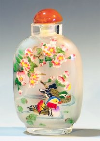 Swimming Ducks - Inside Painteed Snuff Bottles