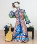 The Pipa Musician Lady in the Dream - Oriental Lady Figurine Porcelain China