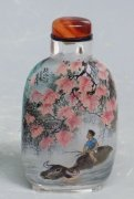 23 Years Vintage (1997) Master chinese Inside Painted Snuff Bottle Landscapes