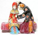 Bride & Bridegroom - Shiwan Chinese Ceramic Lady Figurine