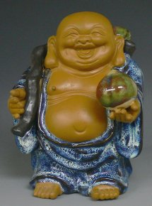 Happy Lucky Buddha Chinese Ceramic / Porcelain Figurine Statue