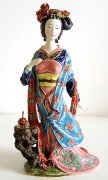 Imperial Concubine - Shiwan Chinese Ceramic Lady Figurine
