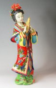 Musician Lady - Oriental Chinese Porcelain Lady Figurine