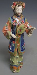 Porcelain Dolls Ceramic Figurine Oriental Chinese Girl
