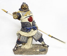 "17"" Ancient Chinese Ceramic Figurine Statue Warrior Hero"