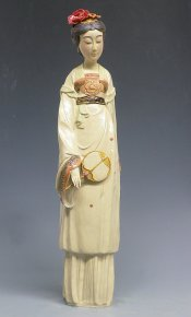 Ceramic Figurine Chinese Oriental Beautiful Lady