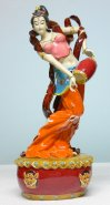 Ceramic Figurine Statue Ancient Dunhuang Beauty Dancing
