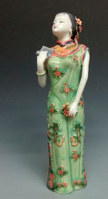 Chinese Porcelain figurine Statue - Oriental Woman