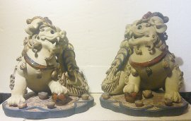 LARGE Chinese Feng Shui Fu Foo Dog Imperial Guardian Lions Drago