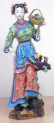 Master Ancient Chinese Ceramic / Porcelain Figurine Ancient Great Beauty Woman