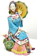 Oriental Chinese Lady - Ceramic Lady Figurine