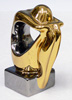 Spanish GALOS Design Porcelain Figurine Platinum & Gold Finish