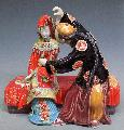 Bride & Bridegroom Porcelain Doll - Shiwan Chinese Ceramic Figurine Statue - Art-sam.com