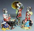 Chinese Ceramic Figurine Statue Porcelain Doll 3 Sister Set Master Collection - Art-sam.com