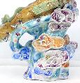 Immortal Riding a Celestial Crane : Porcelain China Sculpture Masterpiece - Art-sam.com